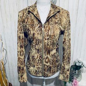 Toni Morgan Faux Snake Skin Print Jacket Sz Small